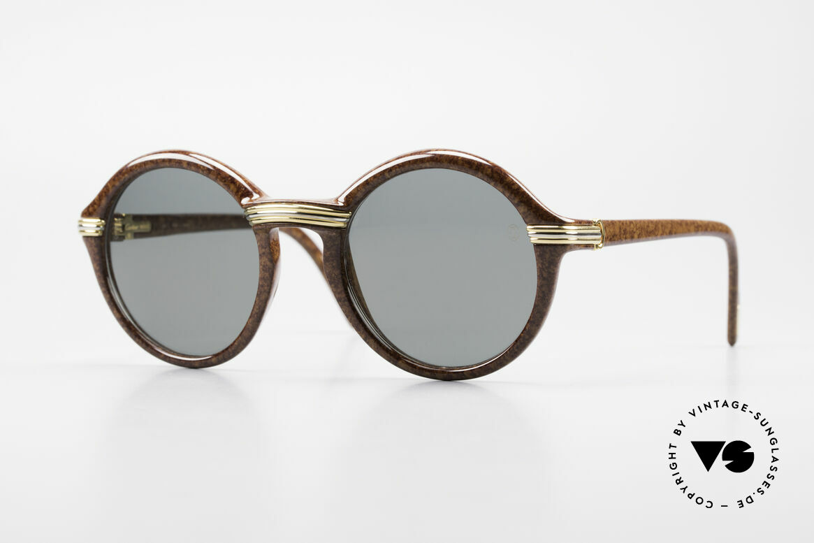 Cartier Cabriolet Round Luxury Shades Large, luxury CARTIER shades of the Composite Series; 1994, Made for Men and Women