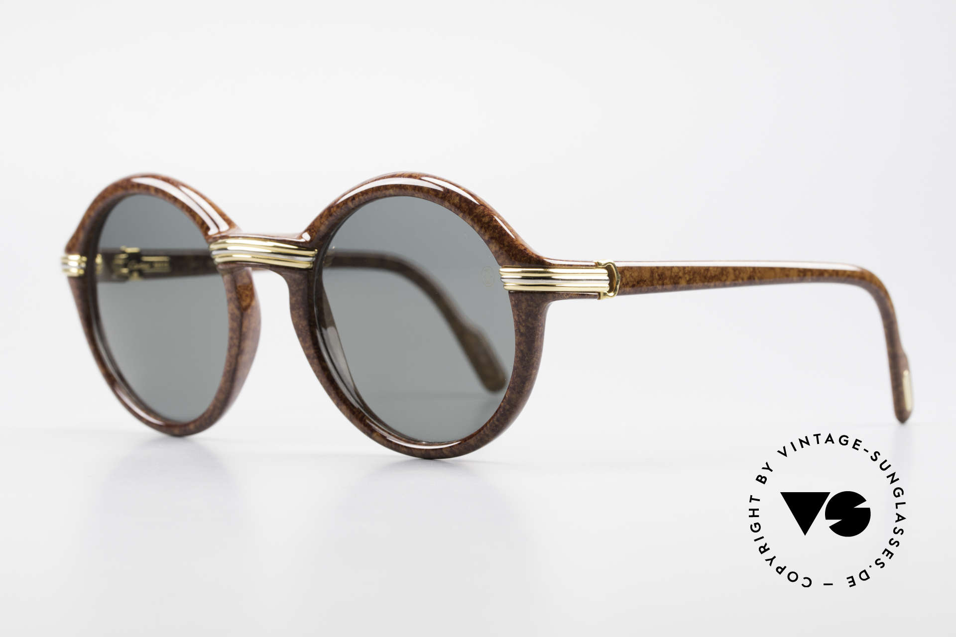 Cartier Cabriolet Round Luxury Shades Large, high-end original lenses with CARTIER logo (100% UV), Made for Men and Women