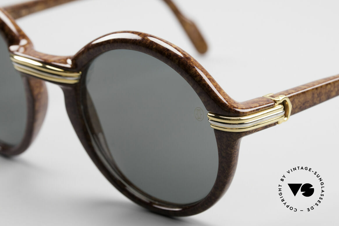 Cartier Cabriolet Round Luxury Shades Large, unworn, NOS (hard to find in this condition, these days), Made for Men and Women
