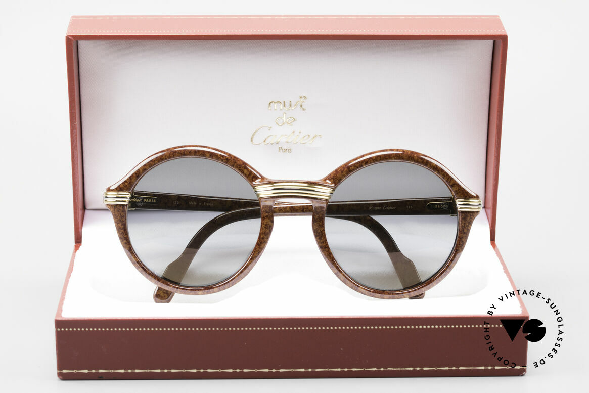 Cartier Cabriolet Round Luxury Shades Large, Size: medium, Made for Men and Women