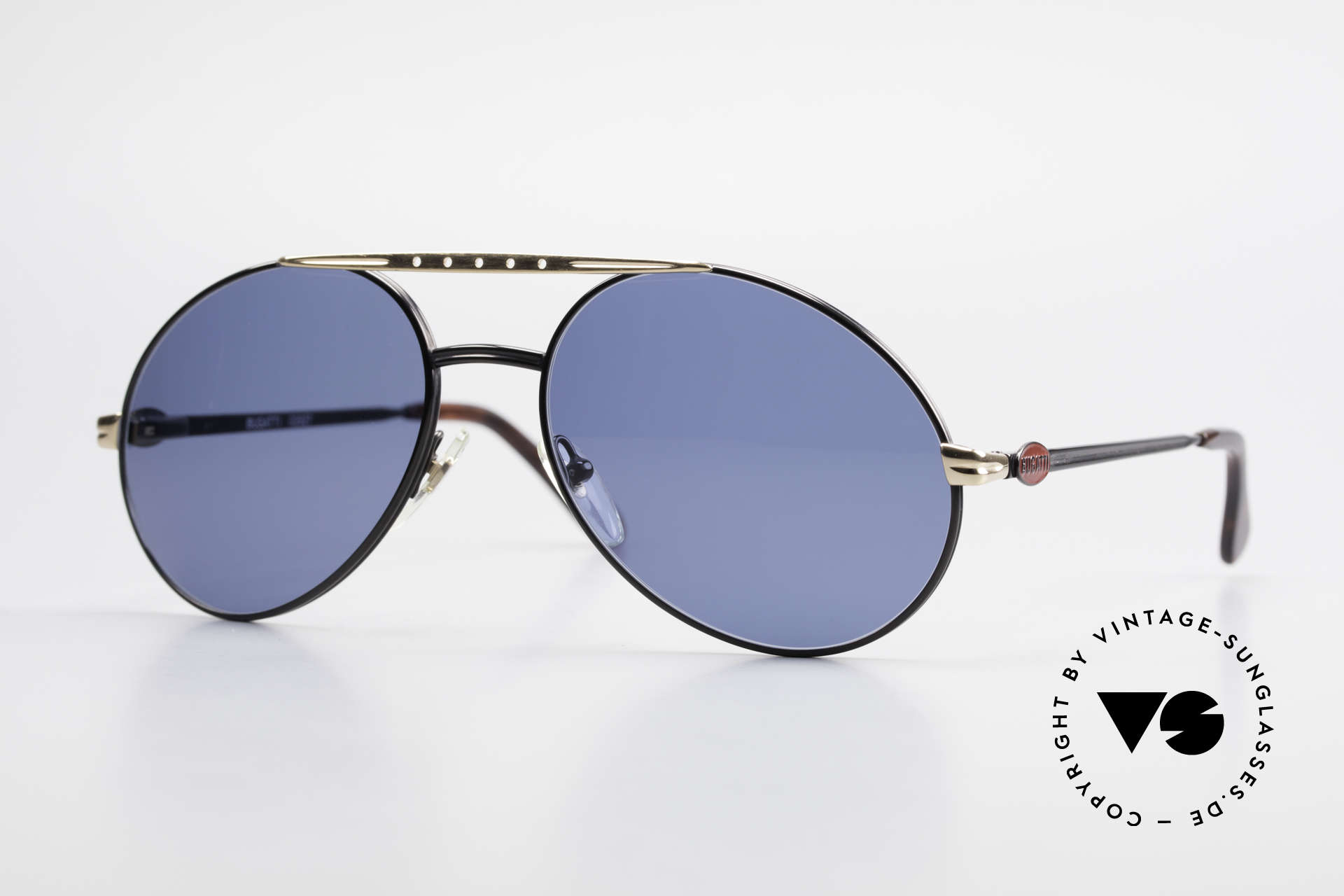 Bugatti 02927 Large 80's Sunglasses For Men, very elegant Bugatti vintage 80's designer sunglasses, Made for Men