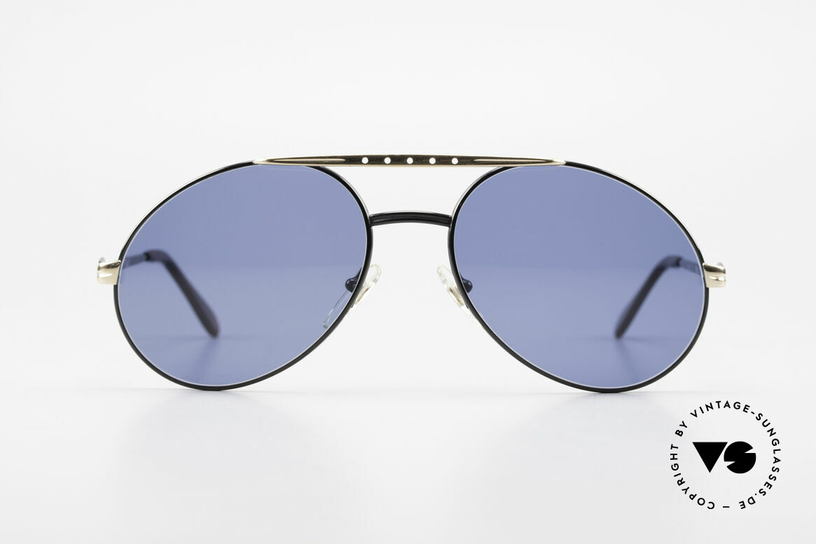 Bugatti 02927 Large 80's Sunglasses For Men, made around 1985 in France (1st class spring hinges), Made for Men