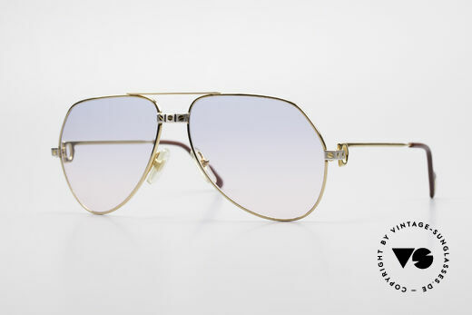 Cartier Vendome Santos - M Rare 80's Luxury Aviator Shades Details