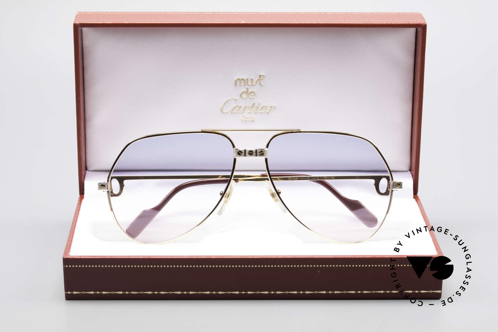Cartier Vendome Santos - M Rare 80's Luxury Aviator Shades, NO RETRO sunglasses, but a genuine vintage ORIGINAL, Made for Men and Women