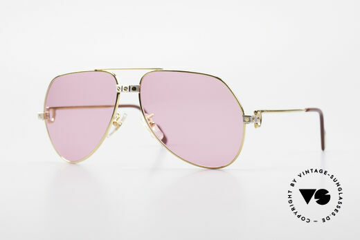 Cartier Vendome Santos - M Pink Glasses for Bond Girls Details