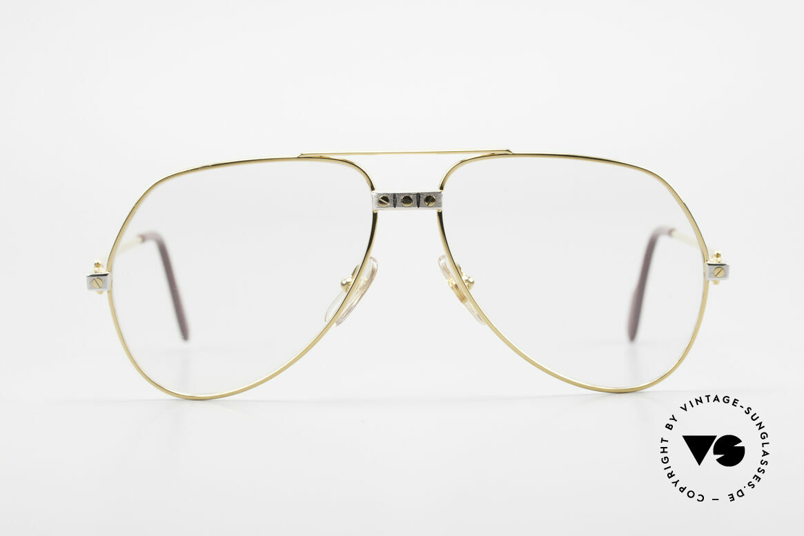 "Cartier Vendome Santos - M Changeable Cartier Lenses, mod. ""Vendome"" was launched in 1983 & made till 1997, Made for Men"