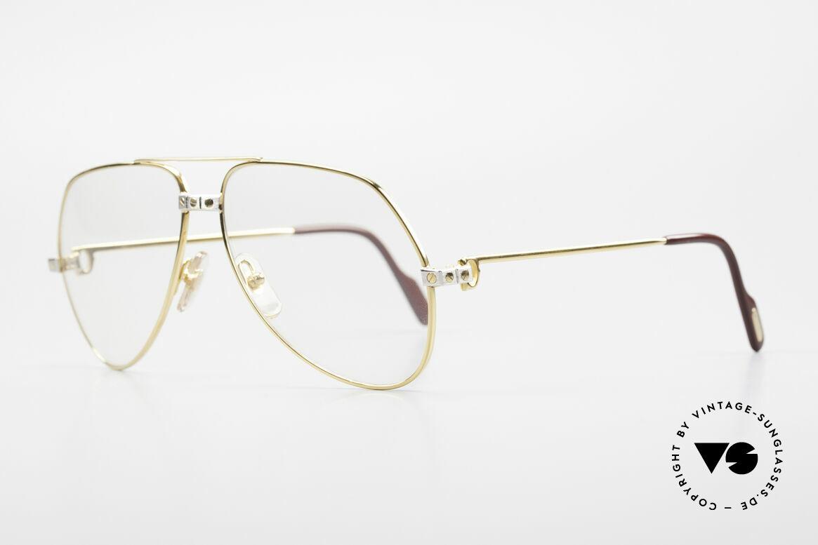 Cartier Vendome Santos - M Changeable Cartier Lenses, Santos Decor (with 3 screws) in Medium size 59-14, 140, Made for Men
