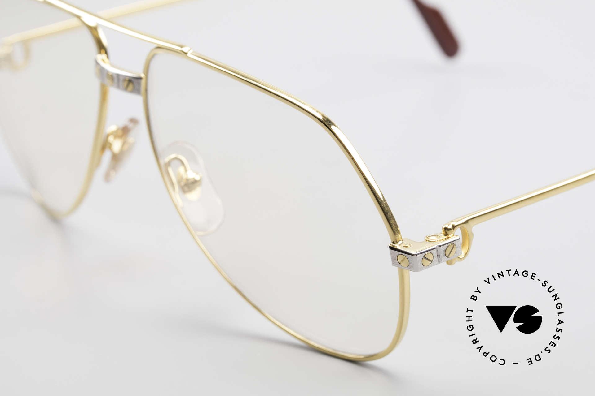 Cartier Vendome Santos - M Changeable Cartier Lenses, worn by actor Christopher Walken (JAMES BOND, 1985), Made for Men