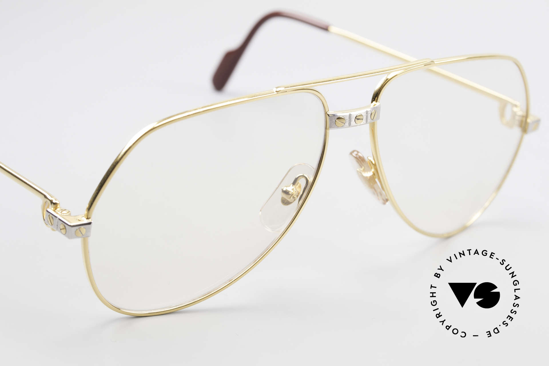Cartier Vendome Santos - M Changeable Cartier Lenses, the lenses are darker in the sun and lighter in the shade, Made for Men