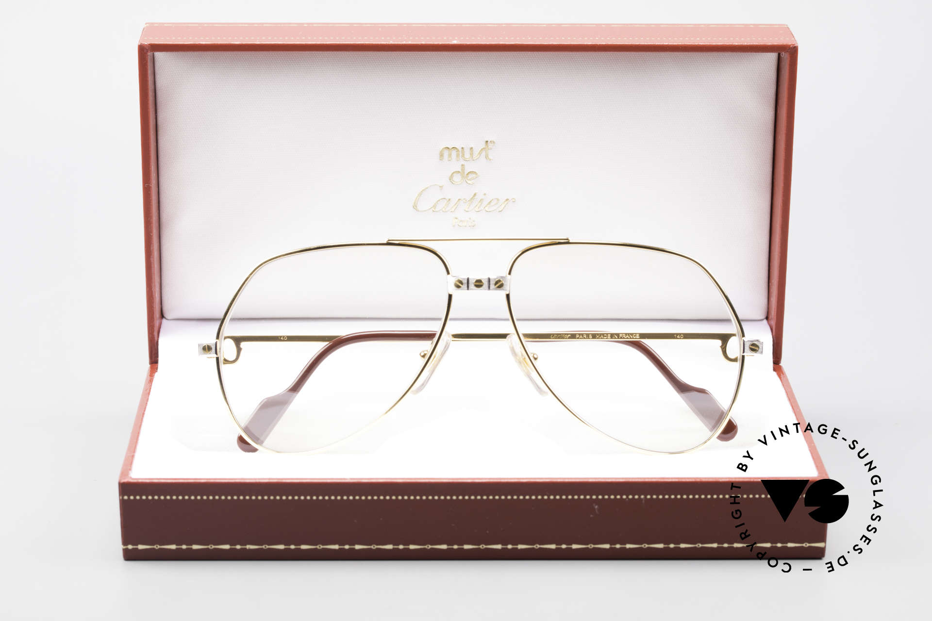 Cartier Vendome Santos - M Changeable Cartier Lenses, unworn, new old stock (NOS), with full original packing, Made for Men