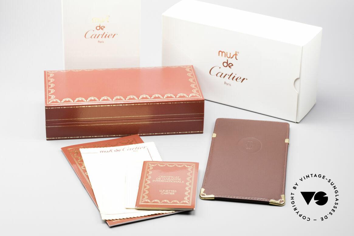 Cartier Vendome Santos - M Changeable Cartier Lenses, NO retro eyeglasses, but an authentic vintage ORIGINAL, Made for Men