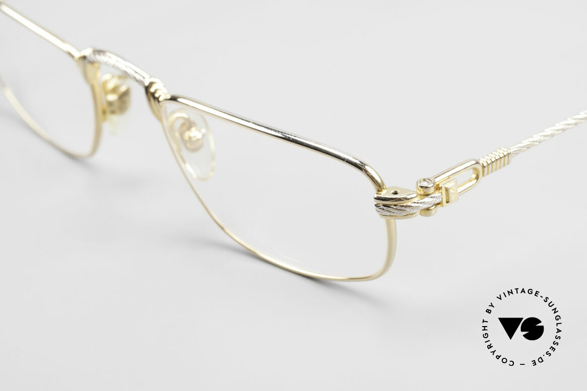 Fred Demi Lune Half Moon Reading Glasses, 2nd hand, but in an excellent vintage condition + case, Made for Men and Women