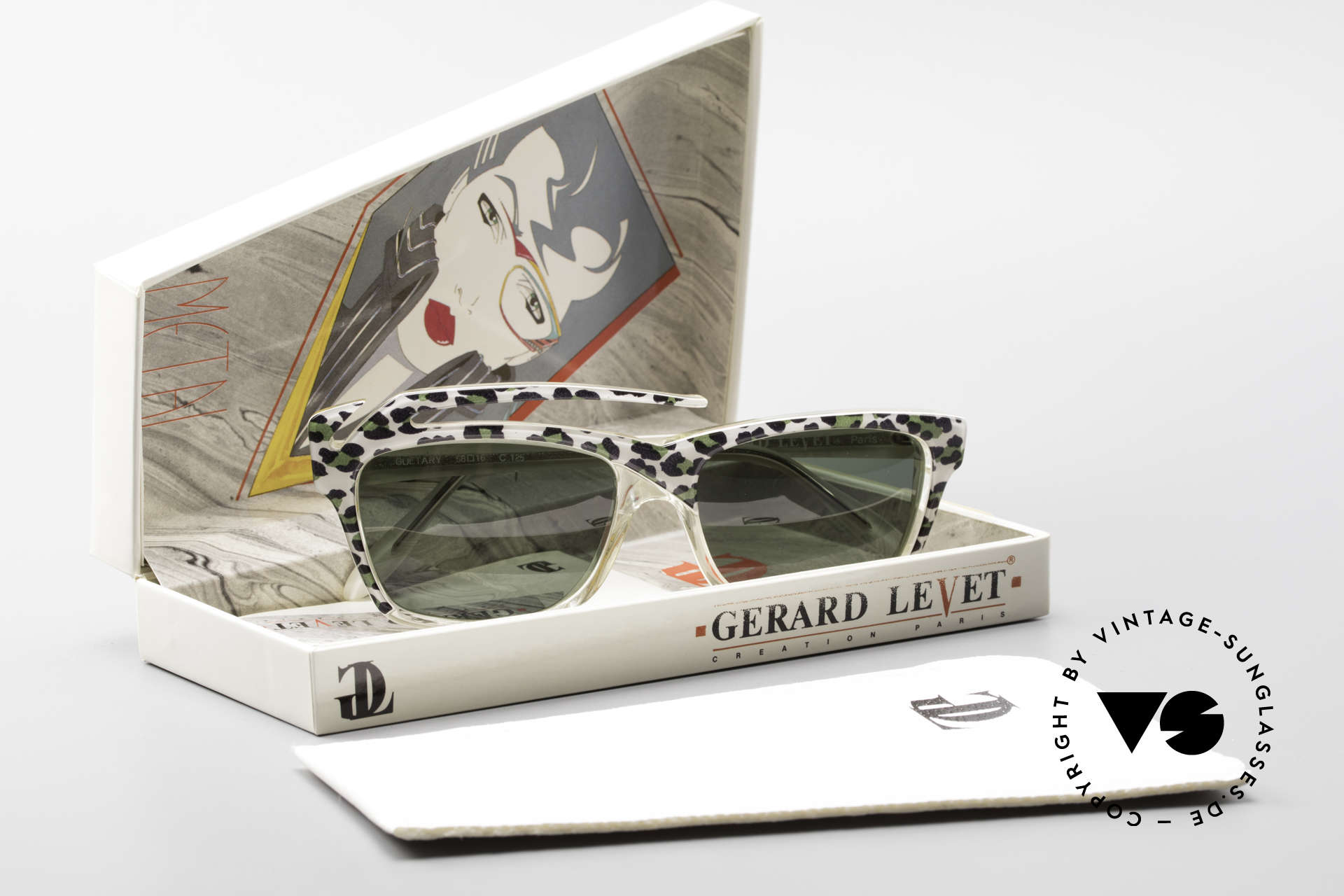 Gerard Levet Guetary A Tribute To Feminity, truly a unique frame design and pattern; No retro!, Made for Women