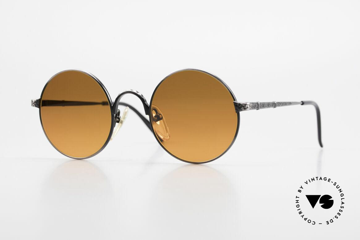 Jean Paul Gaultier 55-9671 Round 90's JPG Sunglasses, round Jean Paul Gaultier designer sunglasses, Made for Men and Women