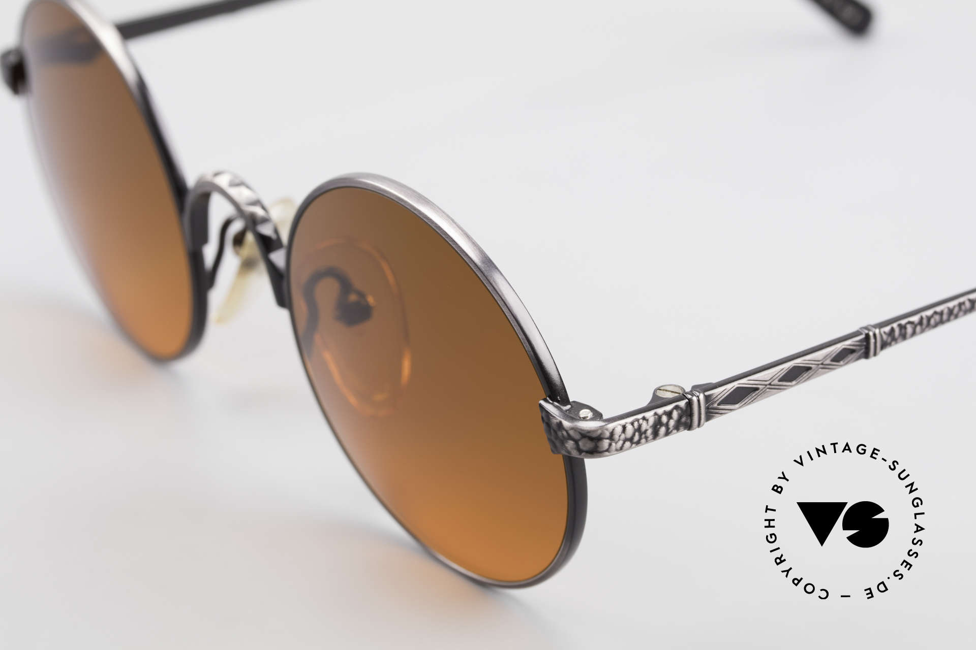 Jean Paul Gaultier 55-9671 Round 90's JPG Sunglasses, NO RETRO shades, but an old 90s JPG Original, Made for Men and Women
