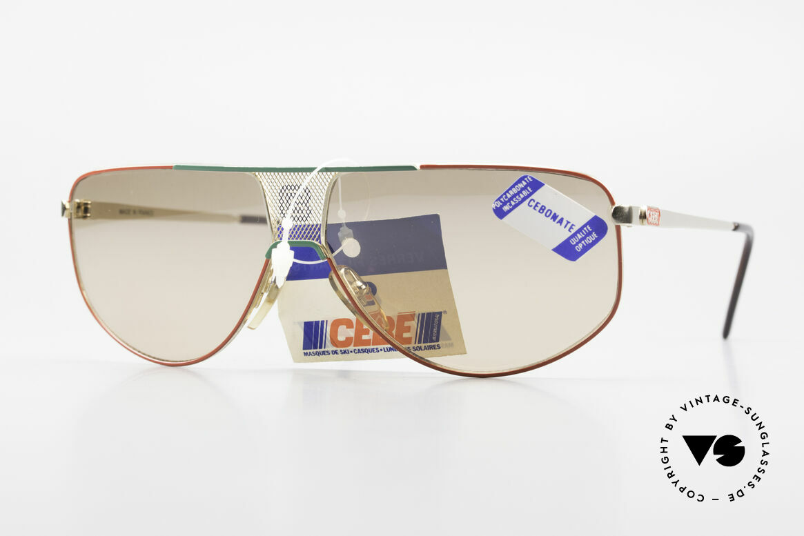 Cebe 0299 90's Ski Sports Sunglasses, vintage Cebe sports shades - made for extreme purpose, Made for Men and Women