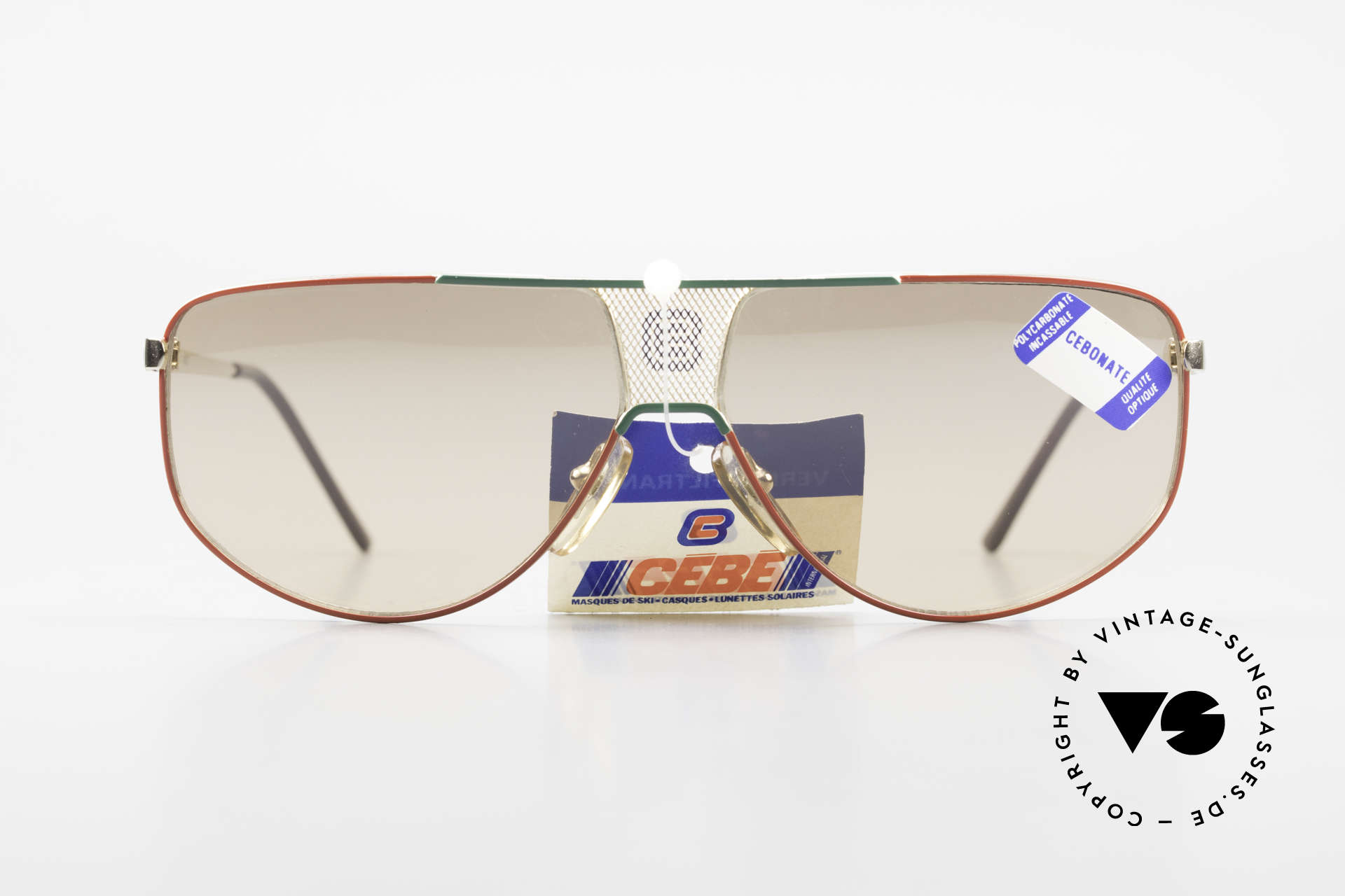 Cebe 0299 90's Ski Sports Sunglasses, flexible hinges for a perfect fit (very pleasant to wear), Made for Men and Women