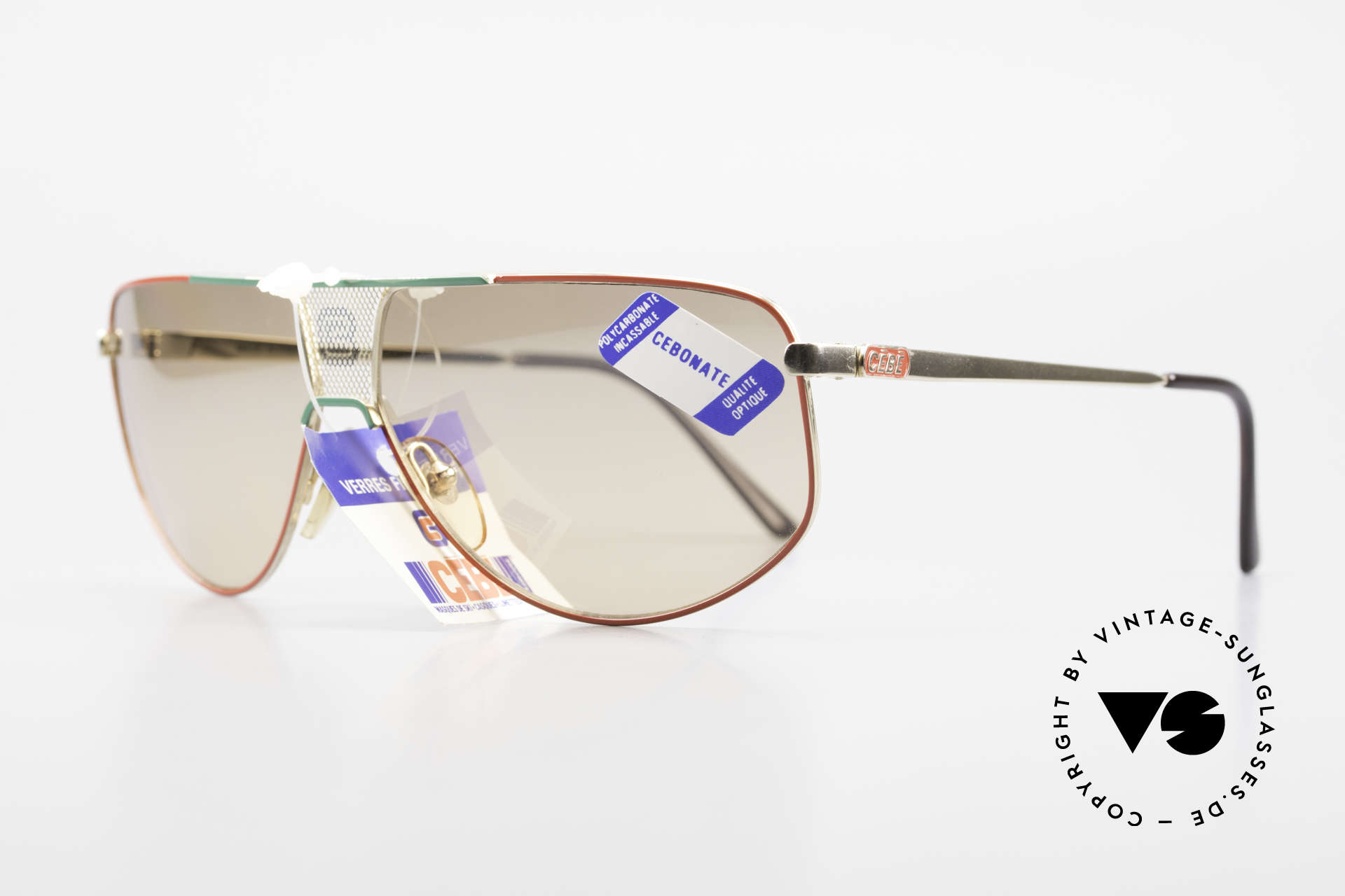Cebe 0299 90's Ski Sports Sunglasses, carbonate sun lenses for extreme sun intensity; 100%, Made for Men and Women