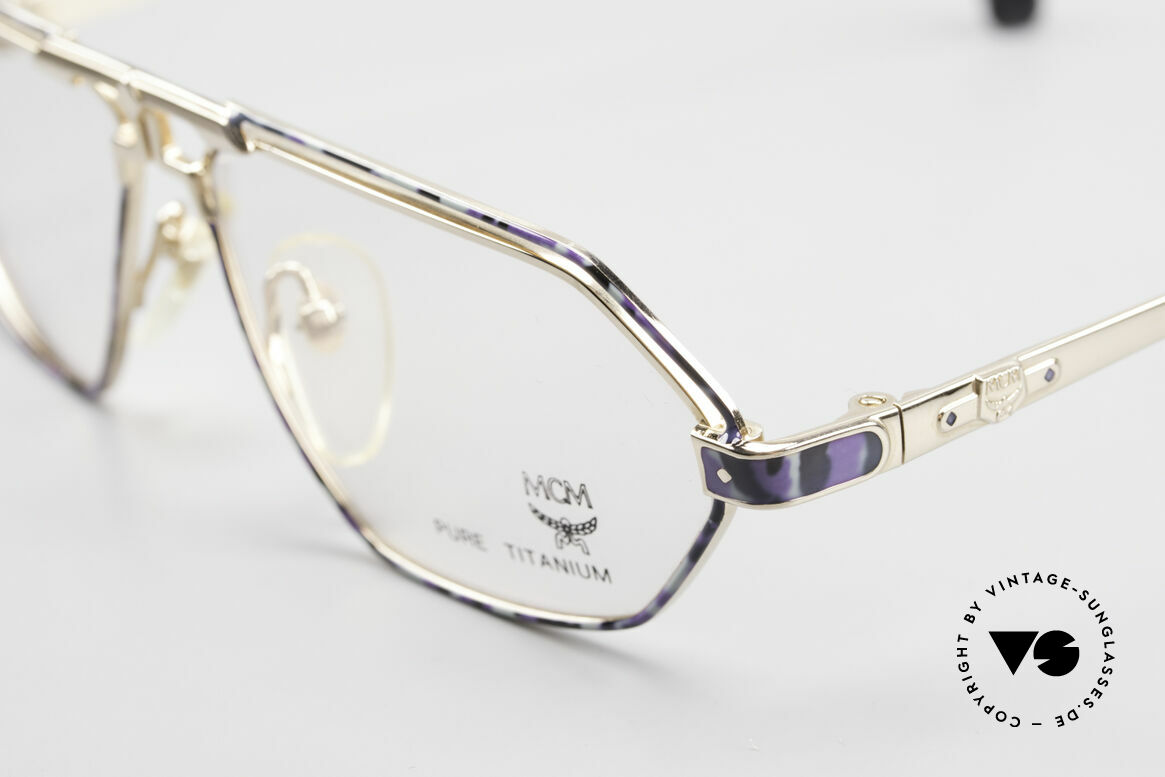 MCM München 13 Titanium Frame Blue Patterned, very comfortable frame (only 17 gram) in size 57/12, Made for Men and Women