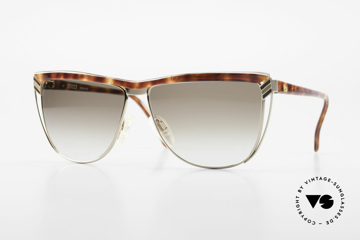 Gucci 2300 Ladies Designer Sunglasses 80s, vintage 80's sunglasses by GUCCI with tortoise look, Made for Women