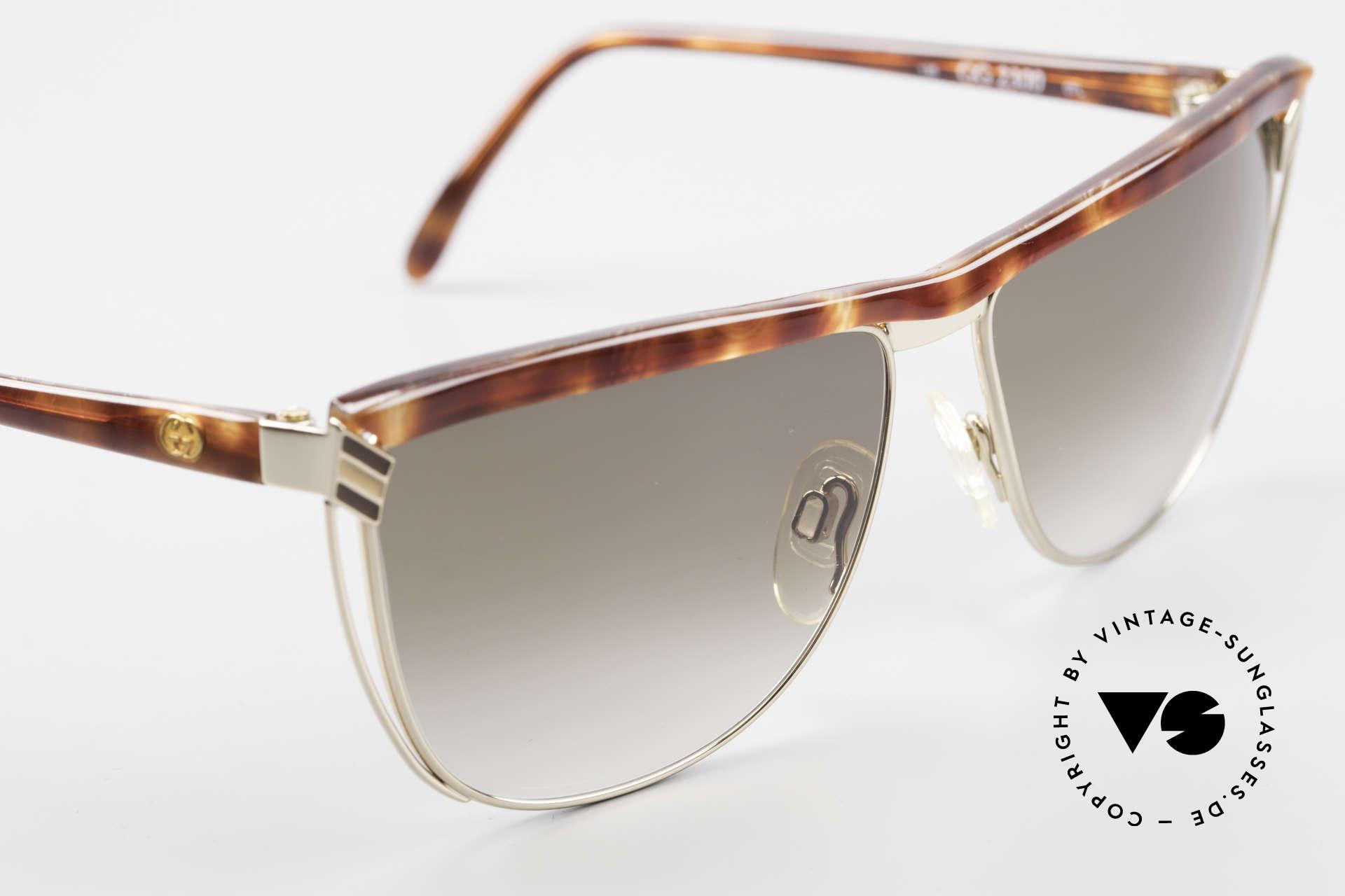 Gucci 2300 Ladies Designer Sunglasses 80s, NO RETRO fashion, but real 1980's retail commodity, Made for Women