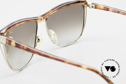 Gucci 2300 Ladies Designer Sunglasses 80s, lenses (100% UV) can be replaced with prescriptions, Made for Women