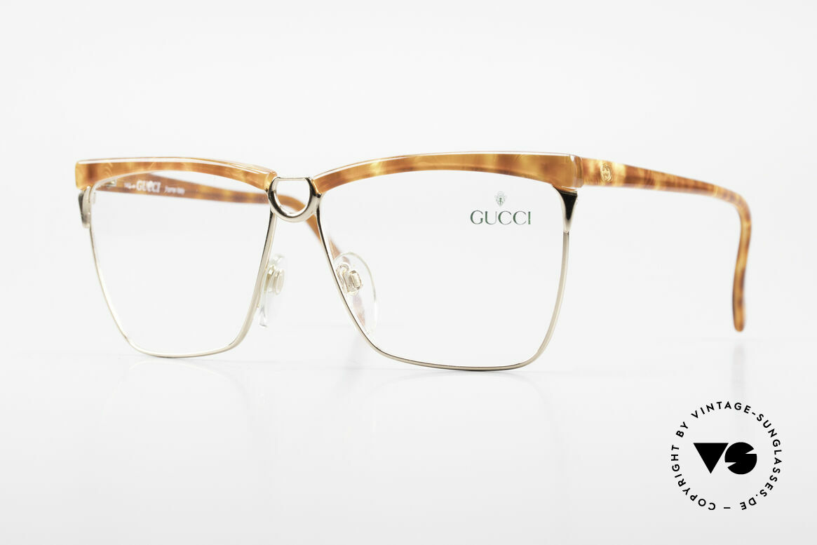 Gucci 2301 Ladies Designer Eyeglasses 80s, vintage 80's eyeglasses by GUCCI with tortoise look, Made for Women
