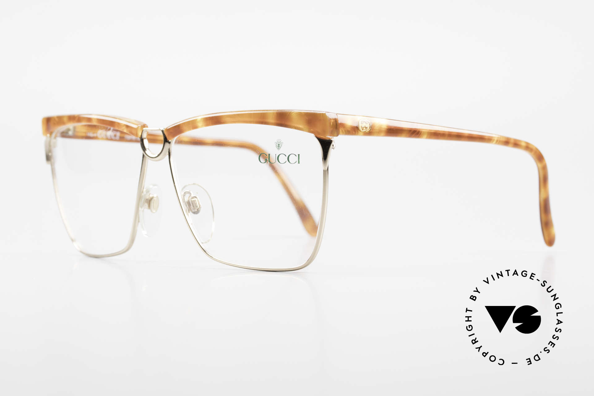 Gucci 2301 Ladies Designer Eyeglasses 80s, a truly rare masterpiece of the late 80's from Italy, Made for Women