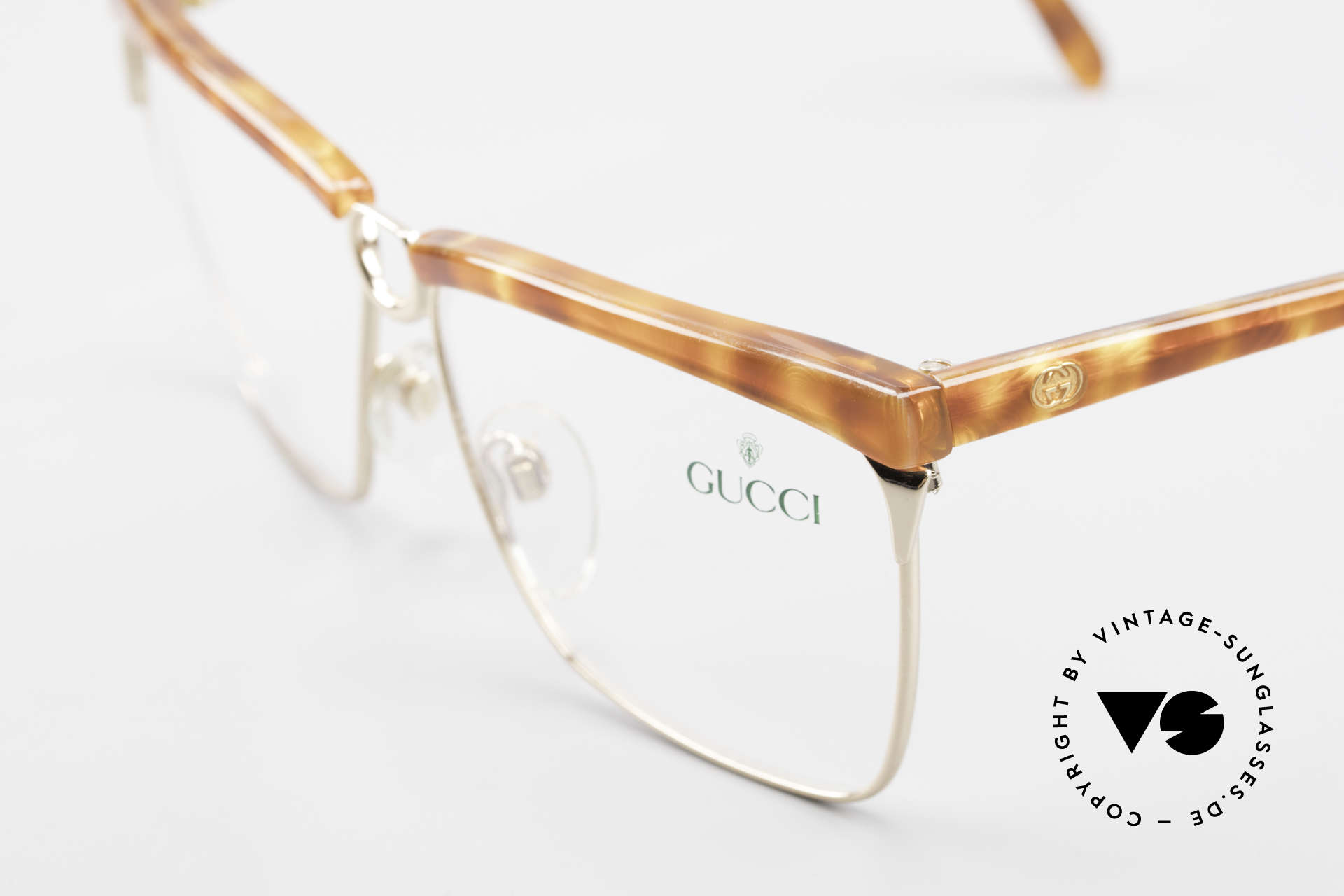 Gucci 2301 Ladies Designer Eyeglasses 80s, unworn, NOS (like all our vintage Gucci eyeglasses), Made for Women