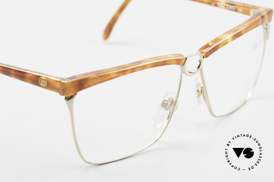 Gucci 2301 Ladies Designer Eyeglasses 80s, NO RETRO fashion, but real 1980's retail commodity, Made for Women