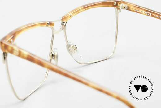 Gucci 2301 Ladies Designer Eyeglasses 80s, demo lenses can be replaced with optical (sun) lenses, Made for Women