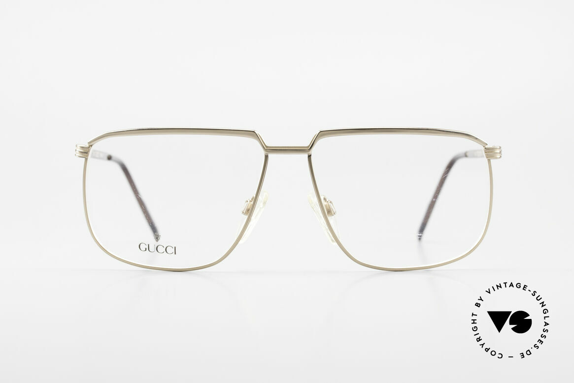 Gucci 1214 Classic 80's Eyeglasses Unisex, 80's rarity in premium quality (GOLD-PLATED), Made for Men and Women