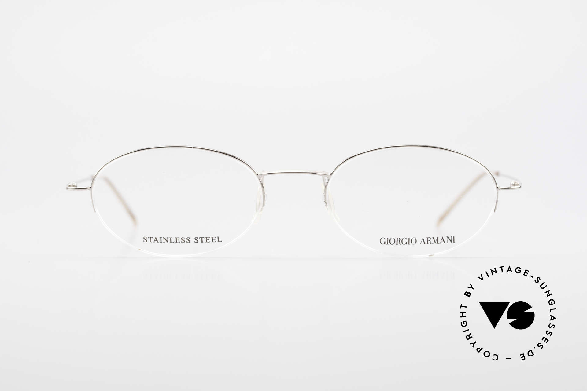 Giorgio Armani 26N Small Oval Eyeglasses Nylor, plain and puristic 'wire glasses' in a SMALL SIZE!, Made for Men and Women