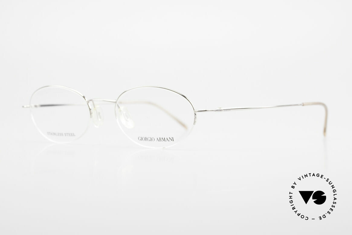 Giorgio Armani 26N Small Oval Eyeglasses Nylor, similar to the legendary Armani 229 Schubert model, Made for Men and Women