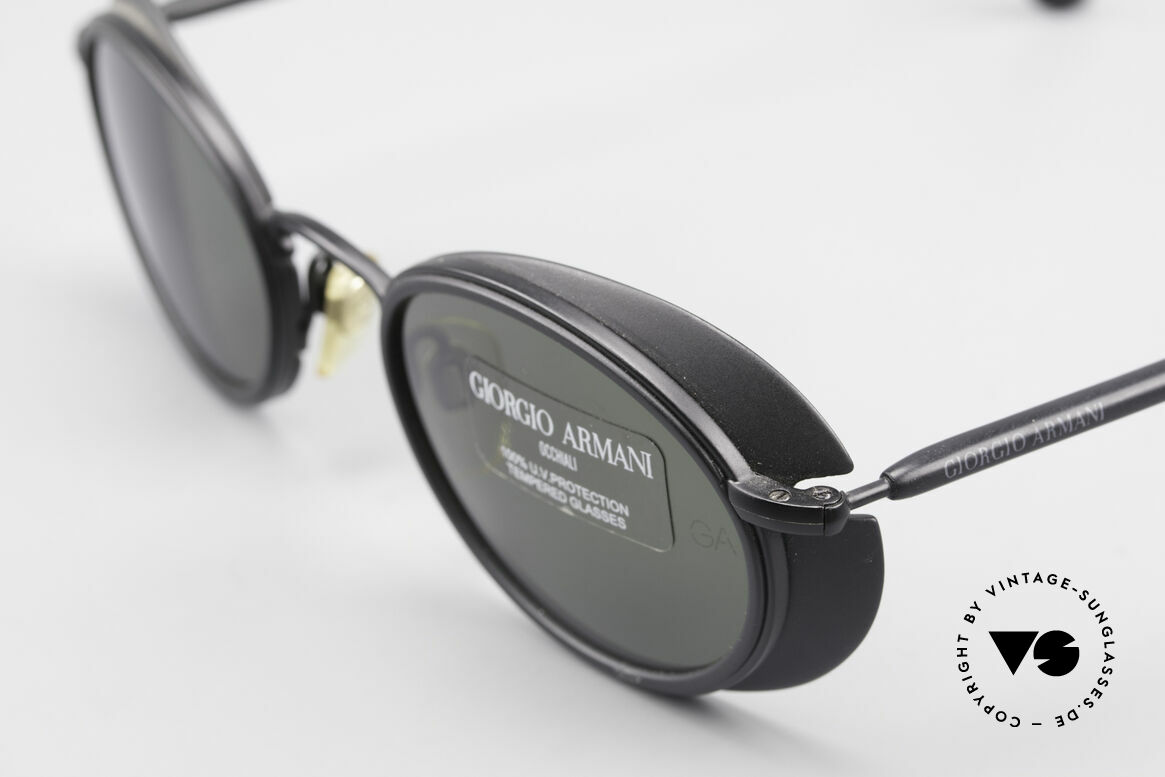 Giorgio Armani 666 Side Shields Frame Oval, made for extreme sun-intensity (optical premium quality), Made for Men and Women