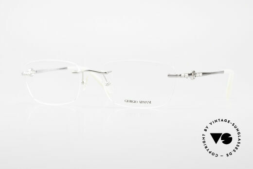 Giorgio Armani 310 Rimless Vintage Eyeglasses Details