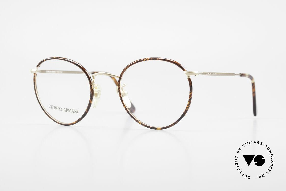 Giorgio Armani 112 90's Panto Eyeglasses Men, timeless vintage Giorgio Armani designer eyeglasses, Made for Men