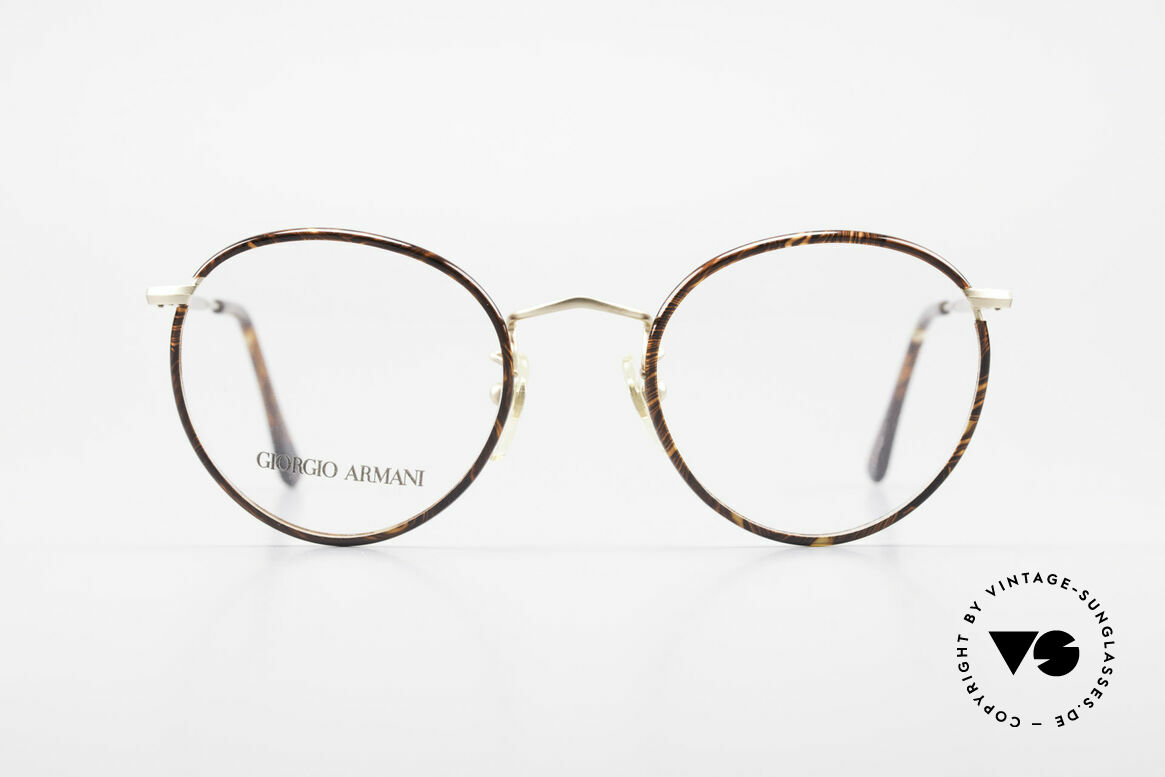 Giorgio Armani 112 90's Panto Eyeglasses Men, timeless vintage Giorgio Armani designer eyeglasses, Made for Men