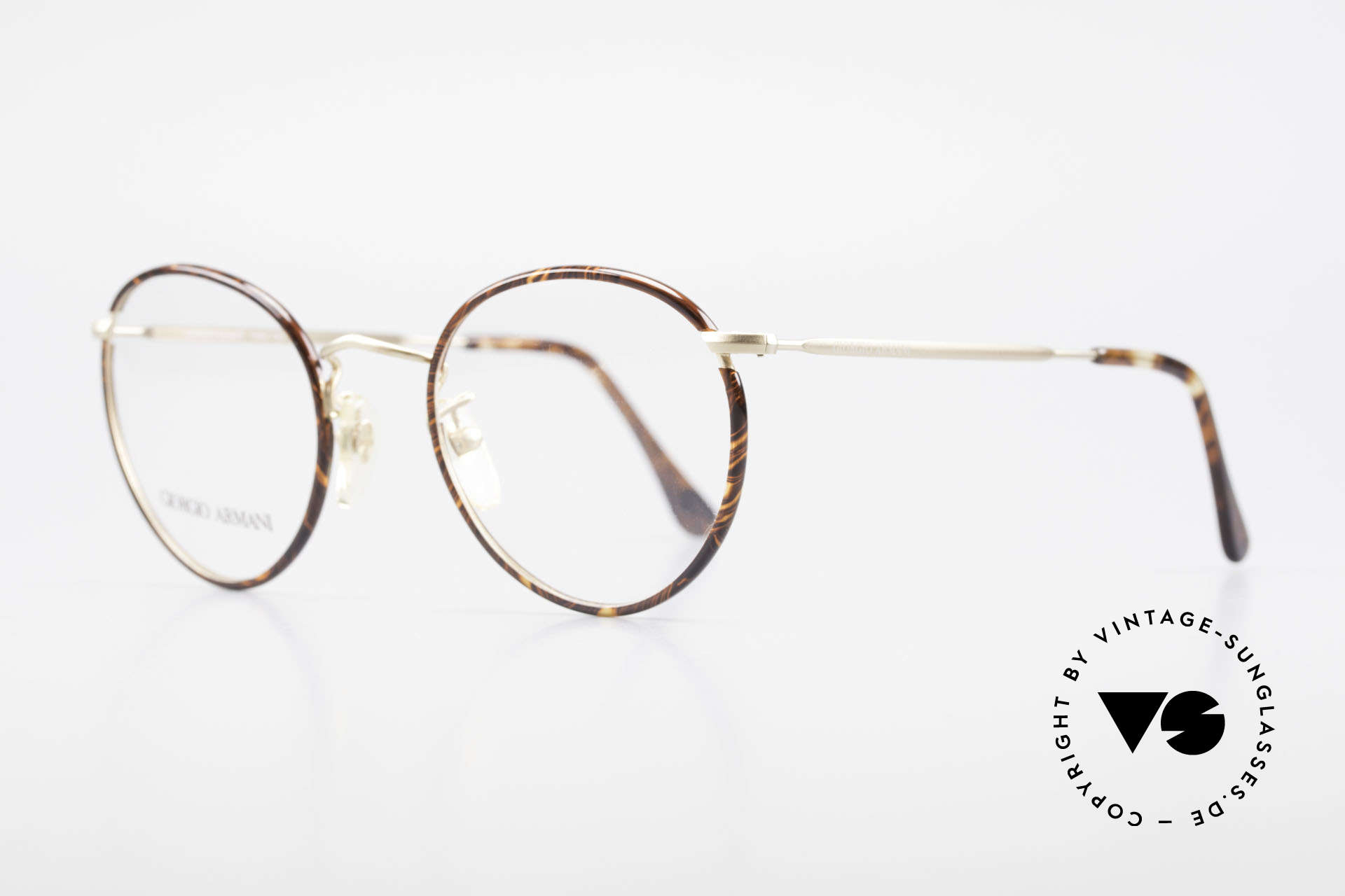 Giorgio Armani 112 90's Panto Eyeglasses Men, true 'gentlemen glasses' in tangible premium-quality, Made for Men