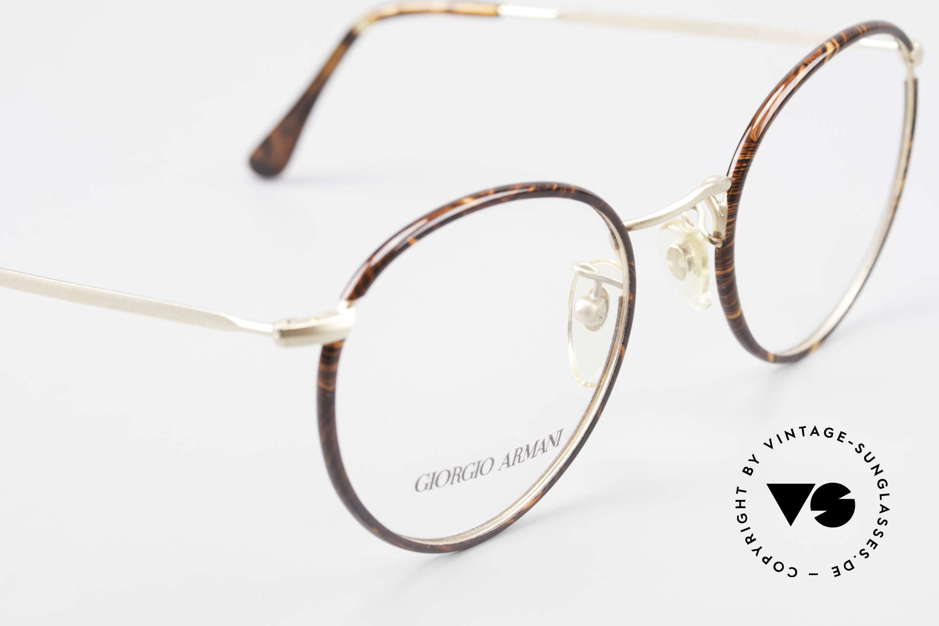 Giorgio Armani 112 90's Panto Eyeglasses Men, unworn 90's model in size 51/22 (130mm frame width), Made for Men