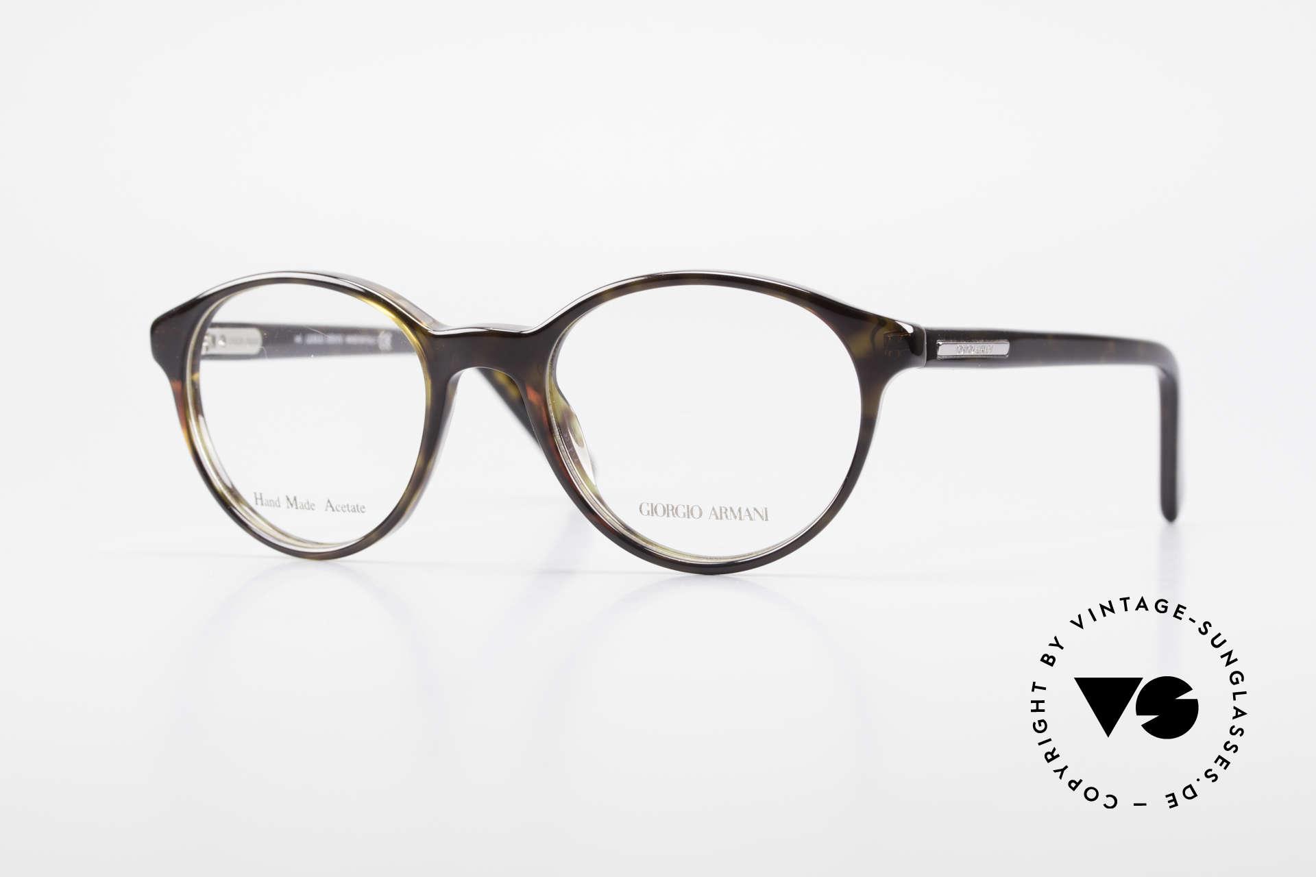 Giorgio Armani 467 Unisex Panto Eyeglass-Frame, true vintage eyeglass-frame by GIORGIO ARMANI, Made for Men and Women