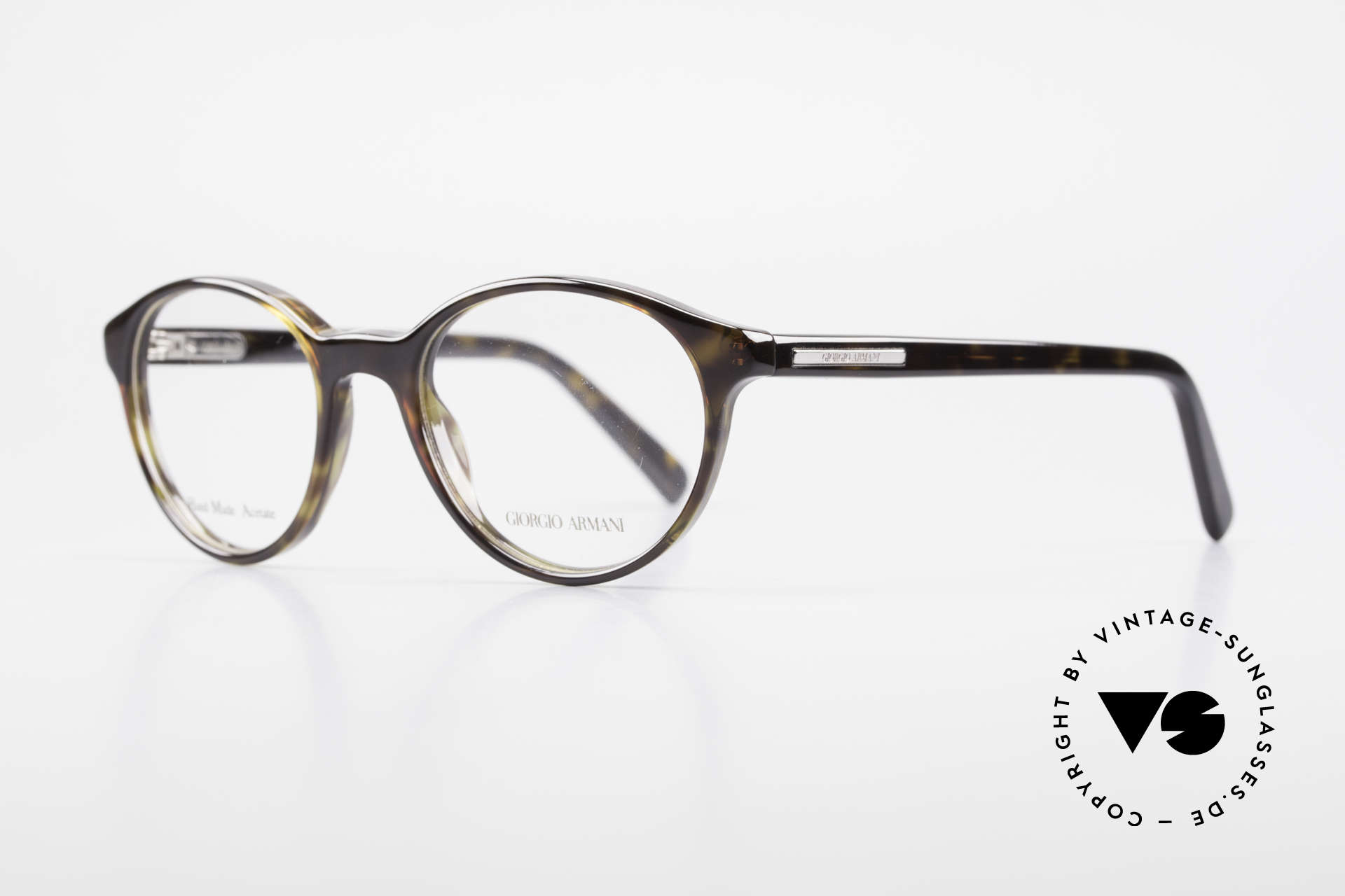 Giorgio Armani 467 Unisex Panto Eyeglass-Frame, unisex Panto model with flexible spring hinges, Made for Men and Women