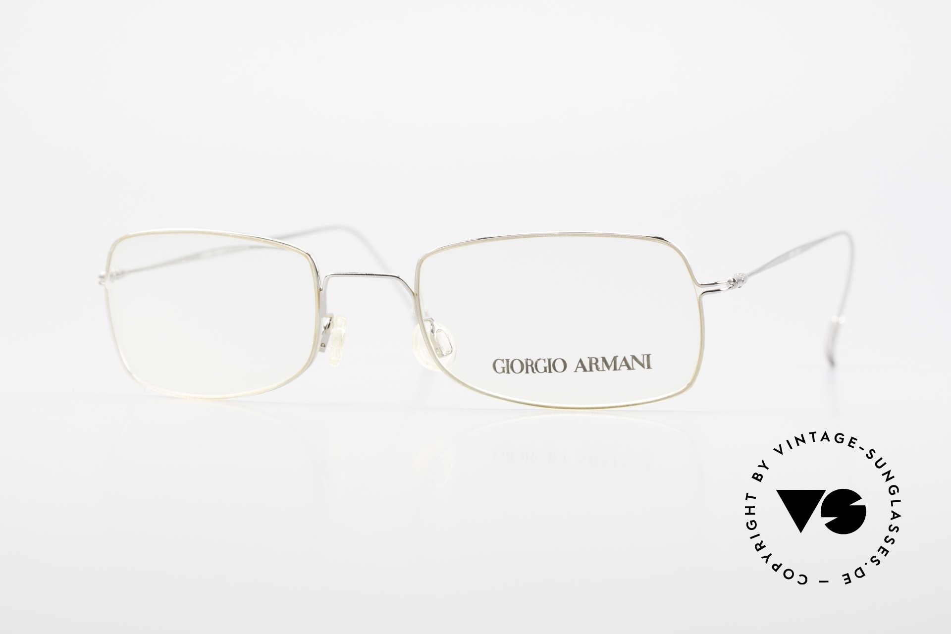 Giorgio Armani 1091 Small Wire Glasses Unisex, Giorgio Armani, Mod. 1091, col. 707, Gr. 48/17, 135, Made for Men and Women