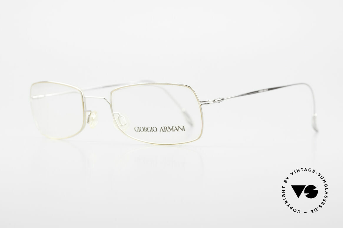 Giorgio Armani 1091 Small Wire Glasses Unisex, timeless square frame design, in top-notch quality, Made for Men and Women