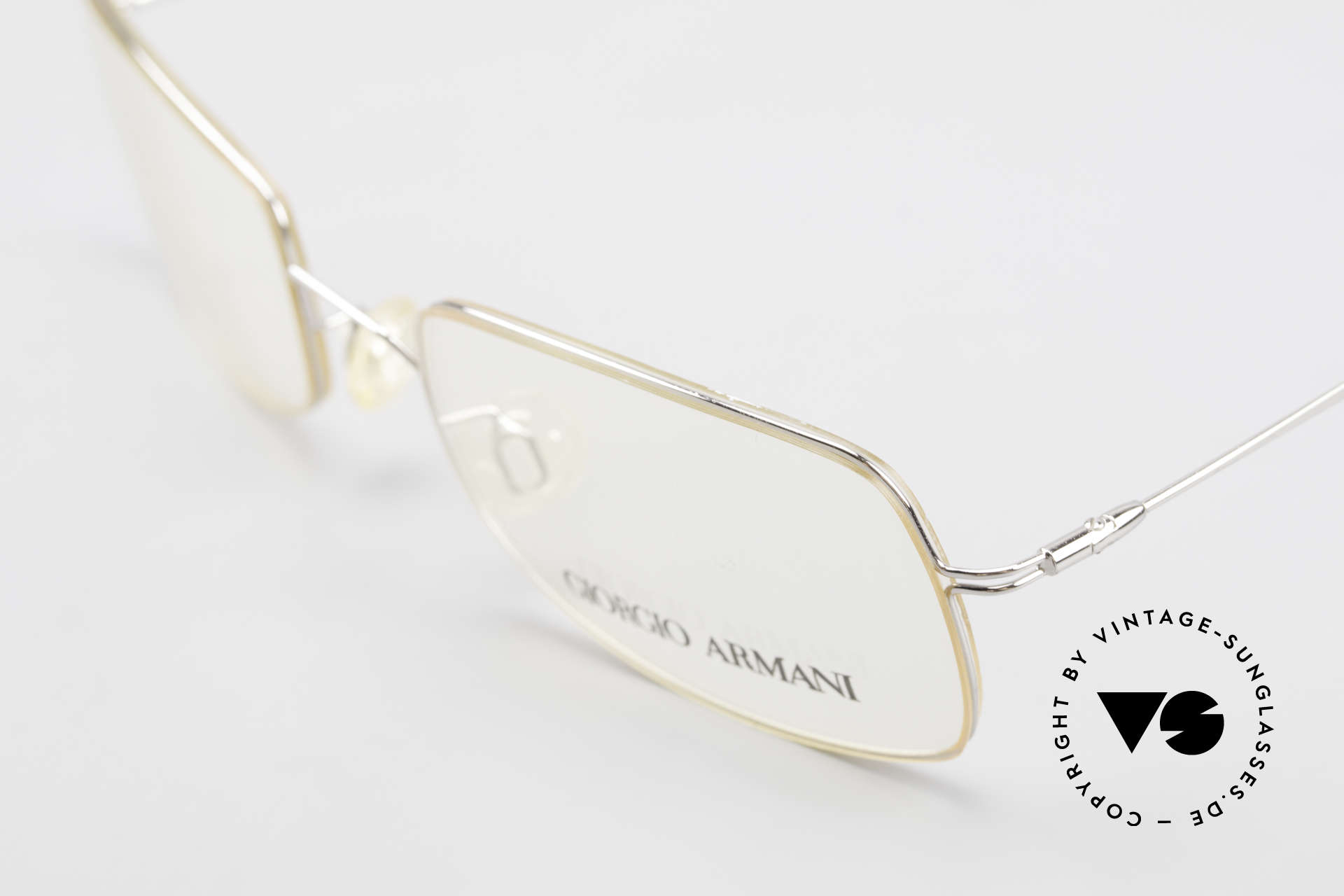 Giorgio Armani 1091 Small Wire Glasses Unisex, unworn original from the mid. 1990's (extra SMALL), Made for Men and Women