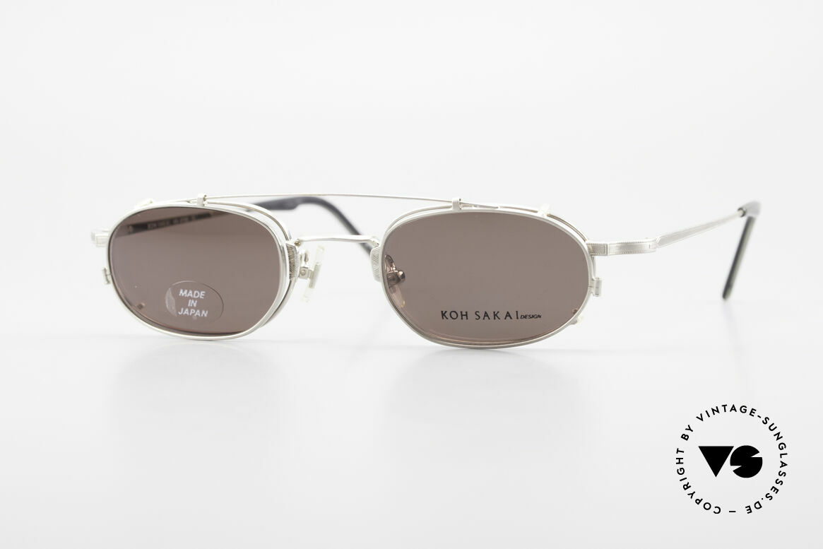 Koh Sakai KS9706 Analog Oliver Peoples Eyevan, rare, vintage Koh Sakai glasses with clip-on from 1997, Made for Men and Women