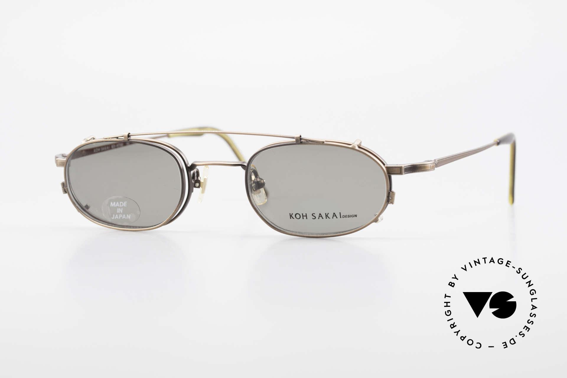 Koh Sakai KS9706 Original Made in Japan Frame, rare, vintage Koh Sakai glasses with clip-on from 1997, Made for Men and Women