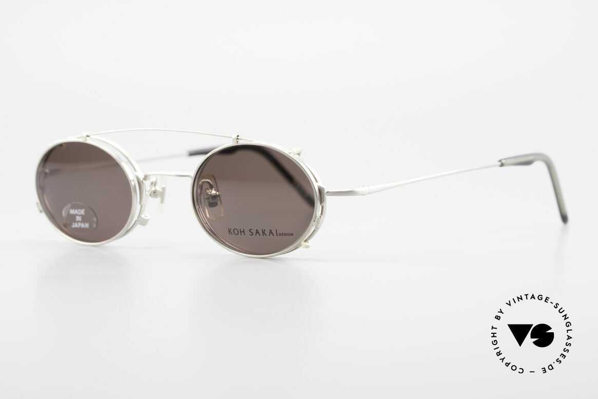Koh Sakai KS9711 Small Oval Glasses Clip On, designed in Los Angeles and produced in Sabae (Japan), Made for Men and Women