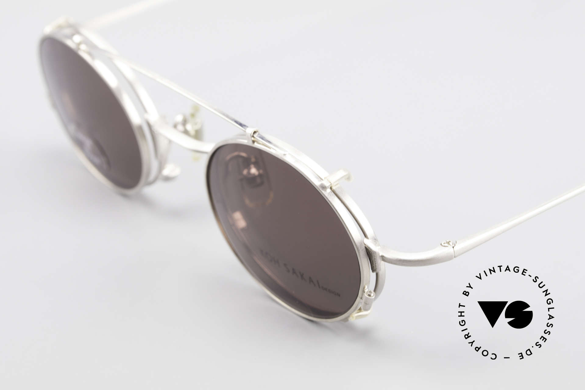 Koh Sakai KS9711 Small Oval Glasses Clip On, made in the same factory like Oliver Peoples & Eyevan, Made for Men and Women