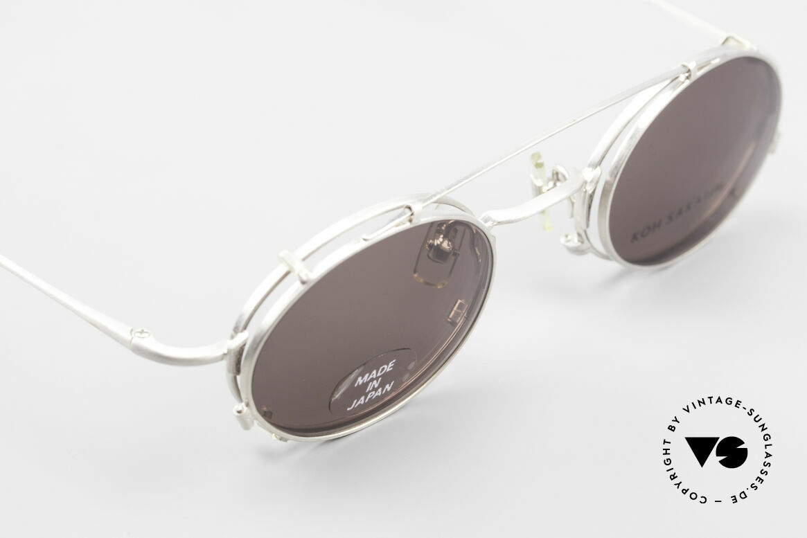 """Koh Sakai KS9711 Small Oval Glasses Clip On, accordingly, the same TOP QUALITY / """"look-and-feel"""", Made for Men and Women"""